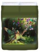 Fairy Of The Butterflies Duvet Cover