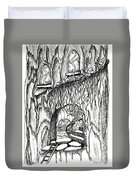 Fairy On Stairs Tree Fairy Home Duvet Cover