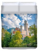 Fairytales From Neuschwanstein Castle Duvet Cover