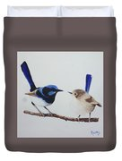 Fairy Wrens - I Love You Too  Duvet Cover