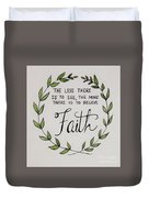 Faith Laurel Wreath Duvet Cover