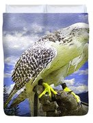 Falcon Being Trained H B Duvet Cover