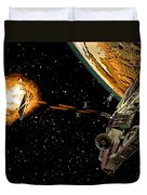 Falcon Fights Back Duvet Cover