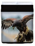 Falcon On Gloved Hand 5251 Duvet Cover