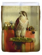 Falcon Duvet Cover by Sir Edwin Landseer