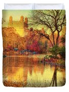 Fall Afternoon In Central Park Duvet Cover