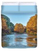 Fall Along The Frio River Duvet Cover