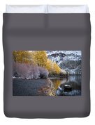 Fall And Winter At Silver Lake Duvet Cover