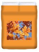 Fall Art Orange Autumn Leaves Blue Sky Baslee Troutman Duvet Cover