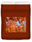Fall Art Prints Orange Autumn Leaves Baslee Troutman Duvet Cover