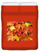 Fall Art Prints Red Orange Yellow Autumn Leaves Baslee Troutman Duvet Cover