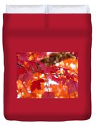 Fall Art Red Autumn Leaves Orange Fall Trees Baslee Troutman Duvet Cover