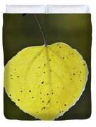 Fall Aspen Leaf Duvet Cover