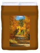 Fall Aspen Trail Duvet Cover