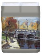Fall At Delaware Park Buffalo Duvet Cover