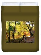 Fall At Lincoln Lake	 Duvet Cover