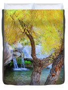 Fall At Murray Falls I Duvet Cover