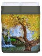 Fall At Murray Falls II Duvet Cover
