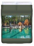 Fall At Skunk Harbor Lake Tahoe Duvet Cover