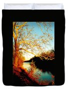 Fall At The Raritan River In New Jersey Duvet Cover