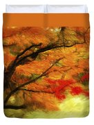 Fall At The Temple Duvet Cover