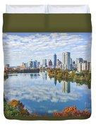 Fall Austin Skyline Duvet Cover