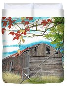 Fall Barn Duvet Cover