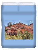 Fall Begins In Zion Duvet Cover