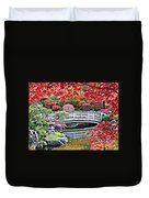 Fall Bridge In Manito Park Duvet Cover by Carol Groenen