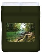 Fall By A River Duvet Cover