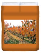 Fall Cherry Orchard Duvet Cover