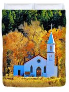 Fall Church Duvet Cover