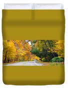 Fall Color Along Road  5643 Duvet Cover