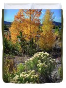 Fall Color Comes To Dillon Reservoir Duvet Cover