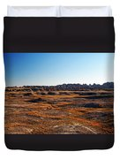 Fall Color In The Badlands Duvet Cover