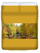 Fall Color On Creek  5597 Duvet Cover