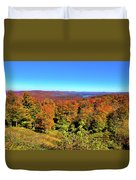 Fall Color On The Fulton Chain Of Lakes Duvet Cover