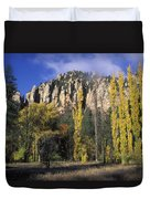 Fall Colors And Red Rocks Near Cave Duvet Cover