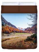 Fall Colors At Alpe Devero Duvet Cover
