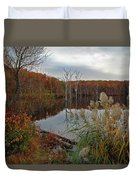 Fall Colors At The Reservoir Duvet Cover