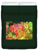Fall Colors At The Vineyard Duvet Cover