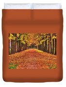 Fall Colors Avenue Duvet Cover