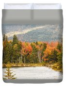 Fall Colors By The Lake Duvet Cover