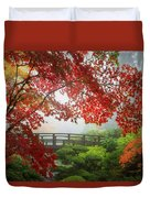 Fall Colors By The Moon Bridge Duvet Cover