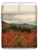 Fall Colors In White Mountains New Hampshire Duvet Cover