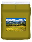 Fall Colors Of Boulder Colorado Duvet Cover