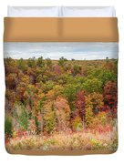 Fall Colors On Hillside Duvet Cover