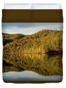Fall Colors On Lake Reflection Duvet Cover