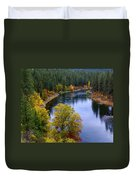 Fall Colors On The River Duvet Cover