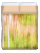 Fall Colours Abstract, Oxtongue River, Algonquin Highlands Duvet Cover